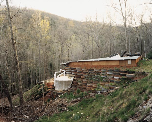 An Earthship at Earthaven Ecovillage, Black Mountain, North Carolina, April 2005